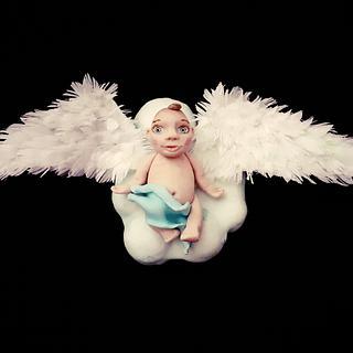 Baby fondant figura