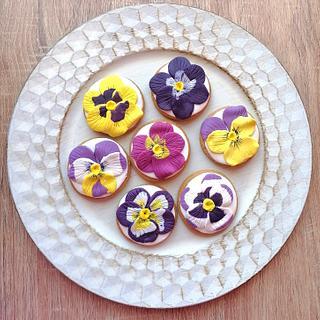 Violet cookies - Cake by Ralitza Hristova