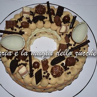 Cream tarte Kinder chocolates