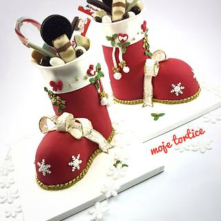 Santa's boots🎅 - Cake by My little cakes