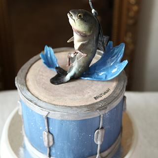 The witcher fish - Cake by Teriely