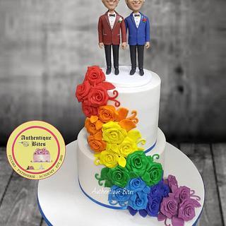 Same Sex Wedding Cake - Cake by Authentique Bites by Ekta & Nekta