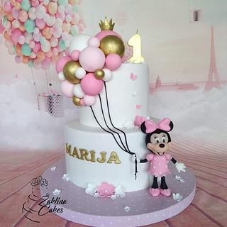 Minnie Mouse with ballons