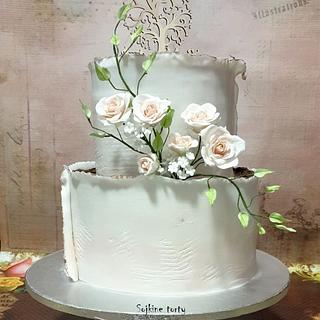 Wedding cake - Cake by SojkineTorty