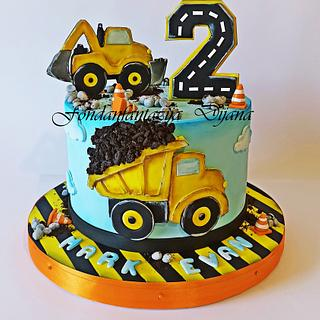 Construction cake - Cake by Fondantfantasy