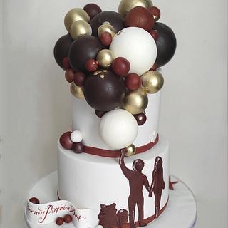 Balloon cake - Cake by Tanya Shengarova