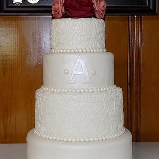 Scroll Pearlized Wedding