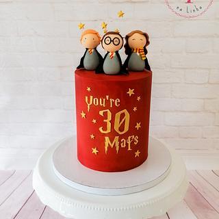 """Harry Potter """"You're 30"""" Cake - Cake by Bolos em Festa na Linha"""
