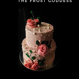 An elegant wedding cake