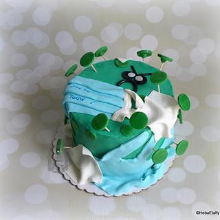 Todd's corona virus birthday cake