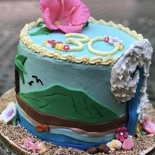 Hawaii birthday cake