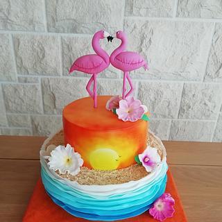 Flamingo Cake - Cake by Jobe