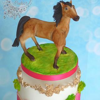 Birthday cake with horse
