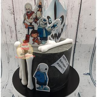 undertale themed cake