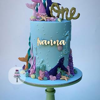 Mermaid themed cake - Cake by Color Drama Cakes