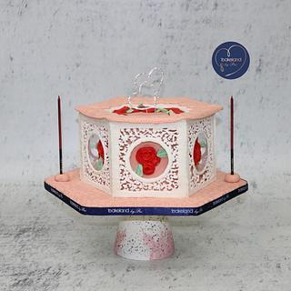 Royal Icing Panel Cake