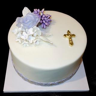 twin cakes for the first holy communion