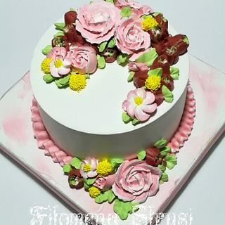 Whippingcream flower cake ...