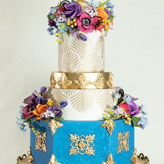 Aladdin Themed Wedding Cake