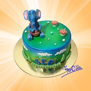 Cake with the elephant Cici