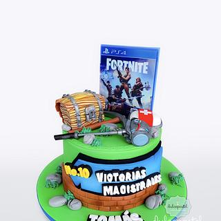 Torta Fortnite Medellín - Cake by Dulcepastel.com