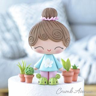 Cute Little Gardener Cake Topper