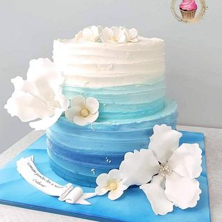 Ombre wave - Cake by Emily's Bakery