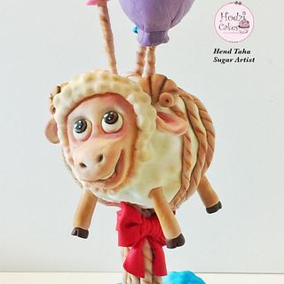 Flying Sheep Cake🐑🎉♥️-Libyan Cake Collective Collaboration - Cake by Hend Taha-HODZI CAKES