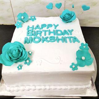 Whipping cream birthday cake