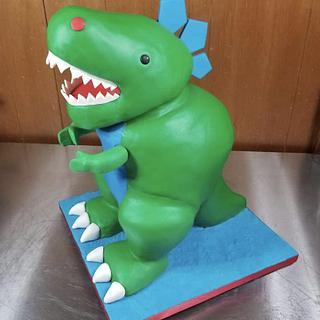 Dinosaur cake - Cake by Naturepixie