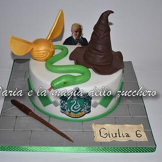 Harry Potter Slytherin cake - Cake by Daria Albanese