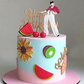 Harry Styles Cake - Cake by Natalia Casaballe