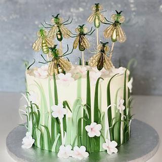 Isomalt flies - Cake by Silvia Gundová