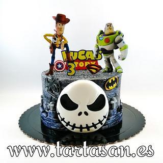 Jack, Woody, Buzzy y Marvel...  - Cake by TartaSan - Damian Benjamin Button