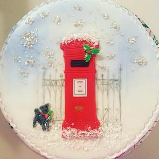 Christmas Postbox Cake - Cake by Fancy A Treat