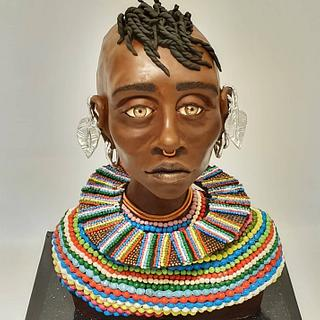 african turkana tribe girl - Cake by Netta