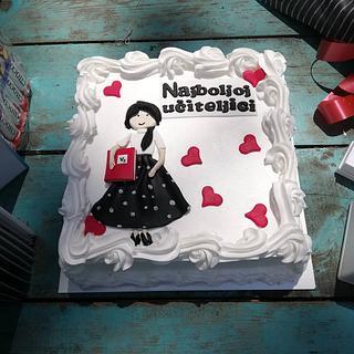 For the best teacher ever❤️ - Cake by TORTESANJAVISEGRAD