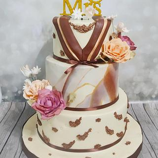 Luxury engagement cake