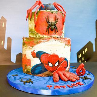 Spiderman - Cake by Lulubelle's Bakes