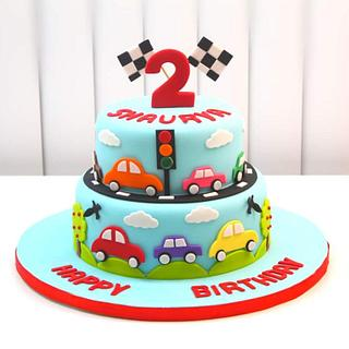 Car Vehicles Theme Cake