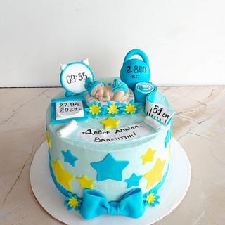 Cake for newborn - Cake by TortIva