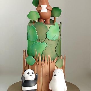 Torta osos  - Cake by Natalia Casaballe