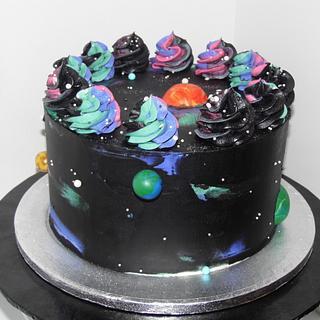 Galaxy Cake & Mini Cake