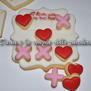 Valentine TicTacToe cookie
