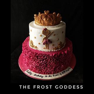 Ballerina queen themed cake - Cake by thefrostgoddess
