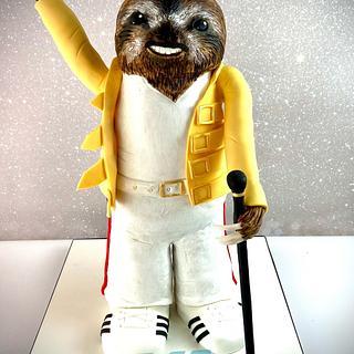 Freddie Mercury Sloth - Cake by Sarah Culverhouse - Cake It So
