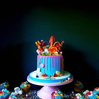 Colourful explosion - Cake by Radoslava Kirilova (Radiki's Cakes)