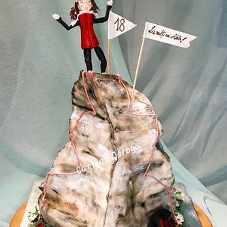 Matterhorn mountain cake