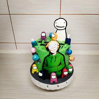 Dream cake with Among us figurines - Cake by Tortalie