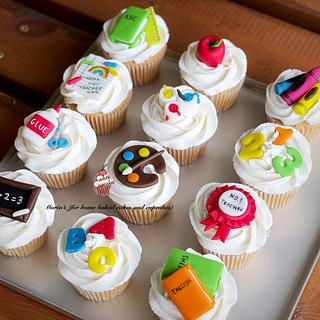 Back to School / End of term Cupcakes - Cake by Maria's